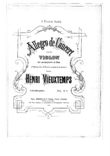 Violin Concerto No.8 'Unfinished': partitura by Henri Vieuxtemps