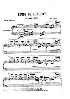 Concert Etude: Concert Etude by Brasílio Itiberê da Cunha