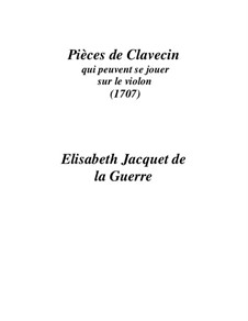 Pieces for Harpsichord: peças para cravo by Elisabeth Jacquet de La Guerre