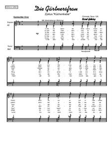 Die Gärtnersfrau: Für gemischten Chor, Op.126 by folklore