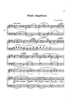 Panis Angelicus (O Lord Most Holy): Para vocais e piano by César Franck