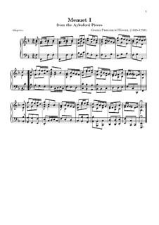 Aylesford Pieces: Minueto em F maior by Georg Friedrich Händel