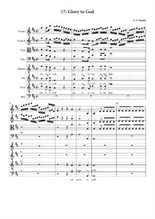 No.17 Glory to God in the Highest: partitura completa by Georg Friedrich Händel