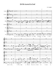 No.28 He Trusted in God: partitura completa by Georg Friedrich Händel