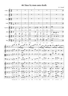 No.46 Since by Man Came Death: partitura completa by Georg Friedrich Händel