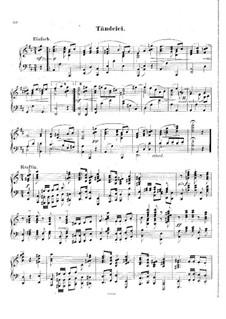 Blätter und Blüthen, Op.2: Nr.10 Tändelei by Hans Huber