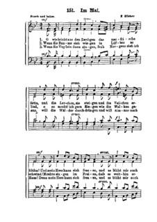 Im Mai: para coro misto by Friedrich Silcher