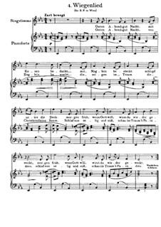 No.4 Cradle Song: For voice and piano (German text) by Johannes Brahms