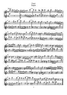 Fugue for Two Flutes: Fugue for Two Flutes by Gottfried Finger