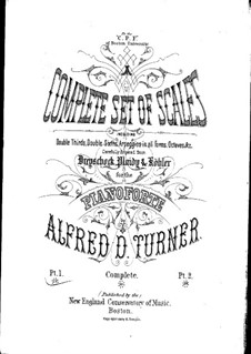 Complete Set of Scales: livro I by Alfred Dudley Turner