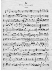Dance No.5 in F Sharp Minor: Violin solo part (E Minor) by Johannes Brahms