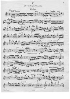 Dance No.7 in F Major: violino parte solo by Johannes Brahms