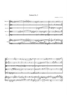 Fantasia No.3, for Five Viols and Organ: Fantasia No.3, for Five Viols and Organ by John Jenkins
