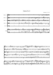 Fantasia No.4, for Five Viols and Organ: Fantasia No.4, for Five Viols and Organ by John Jenkins