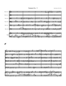 Fantasia No.5, for Six Viols and Organ: Fantasia No.5, for Six Viols and Organ by John Jenkins