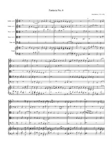 Fantasia No.6, for Five Viols and Organ: Fantasia No.6, for Five Viols and Organ by John Jenkins