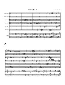 Fantasia No.6, for Six Viols and Organ: Fantasia No.6, for Six Viols and Organ by John Jenkins