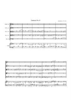 Fantasia No.8, for Five Viols and Organ: Fantasia No.8, for Five Viols and Organ by John Jenkins