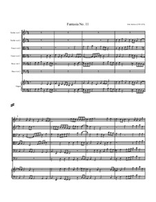 Fantasia No.11, for Six Viols and Organ: Fantasia No.11, for Six Viols and Organ by John Jenkins