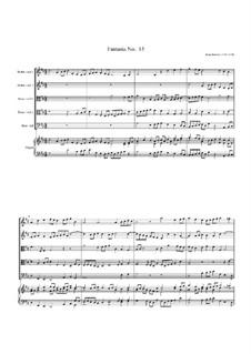 Fantasia No.15, for Five Viols and Organ: Fantasia No.15, for Five Viols and Organ by John Jenkins
