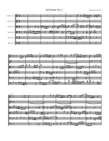 Nomine No.1 in G Minor, for Six Viols: Nomine No.1 in G Minor, for Six Viols by John Jenkins