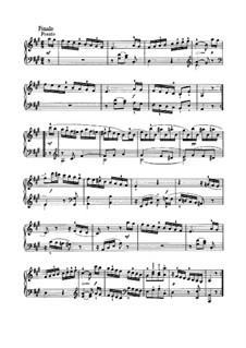 Sonata for Piano No.41 in A Major, Hob.XVI/26: movimento III by Joseph Haydn