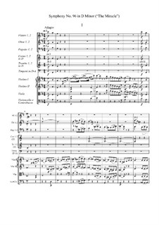 Symphony No.96 in D Major 'The Miracle', Hob.I/96: Partitura completa by Joseph Haydn