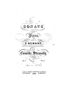 Sonata for Piano in F Minor, Op.8: movimento I by Camille-Marie Stamaty