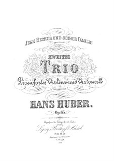Piano Trio No.2, Op.65: movimento I by Hans Huber