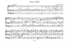 Fugue for Organ in A Flat Minor, WoO 8: For a single performer by Johannes Brahms