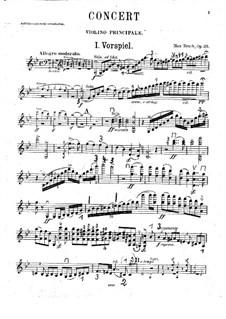 Violin Concerto No.1 in G Minor, Op.26: violino parte solo by Max Bruch