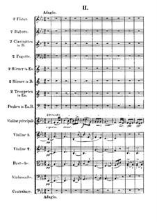 Violin Concerto No.1 in G Minor, Op.26: movimento II by Max Bruch