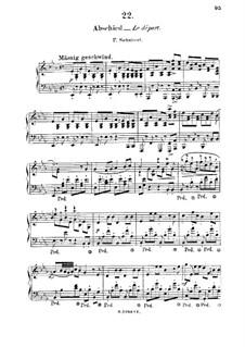 No.7 Abschied (Farewell): Para Piano by Franz Schubert