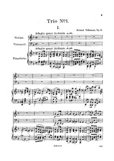 Piano Trio No.1 in F Major, Op.3: Partitura completa by Robert Volkmann