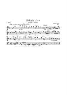 Movement IV: Flute solo part by Johannes Brahms