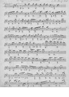 Le Carneval de Venice, Op.6: para guitarra (manuscrito) by Johann Kaspar Mertz