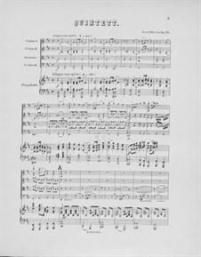 Piano Quintet in D Major, Op.20: Piano Quintet in D Major by Ferdinand Thieriot