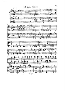 Symphony No.4 in E Flat Major 'Romantic', WAB 104: Movement III. Arrangement for two pianos four hands by Anton Bruckner