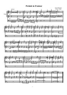 Prelude in D Minor: preludio em D menor by Anton Bruckner