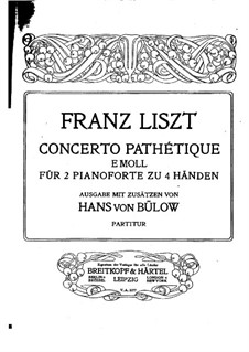 Concerto pathétique, S.258: dois pianos de quatro mãos by Franz Liszt