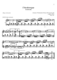 No.2 Arabesque: para piano (partituras de alta qualidade) by Johann Friedrich Burgmüller