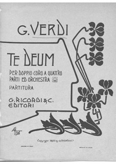 Four Sacred Pieces: No.4 Te Deum for double choir and orchestra by Giuseppe Verdi