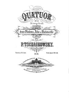 String Quartet No.3 in E Flat Major, TH 113 Op.30: Patrs by Pyotr Tchaikovsky