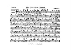 The Picador March: partes by John Philip Sousa