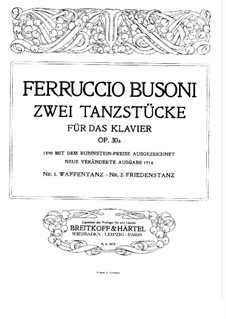 Two Dance Pieces for Piano, BV 235a Op.30a: set completo by Ferruccio Busoni