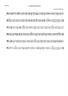 Bona Speranza: basso by Anthony Holborne