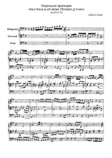 Nun freut euch, lieben Christen g'mein, BuxWV 210: Nun freut euch, lieben Christen g'mein by Dietrich Buxtehude