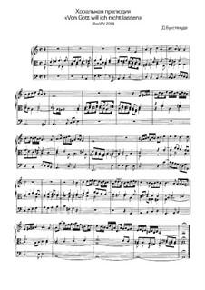 From God I Ne'er will Turn Me, BuxWV 220: para orgãos by Dietrich Buxtehude