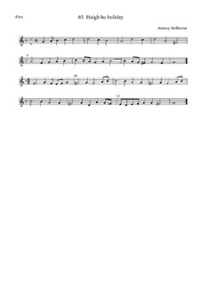 Heigh Ho Holiday: alto by Anthony Holborne