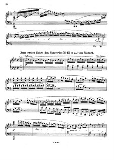 Concerto for Piano and Orchestra No.27 in B Flat Major, K.595: Cadência by Wolfgang Amadeus Mozart